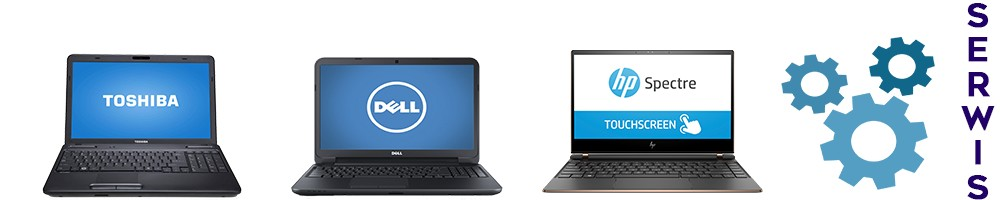 laptop HP, laptop Toshiba, laptop Dell, znak serwisu